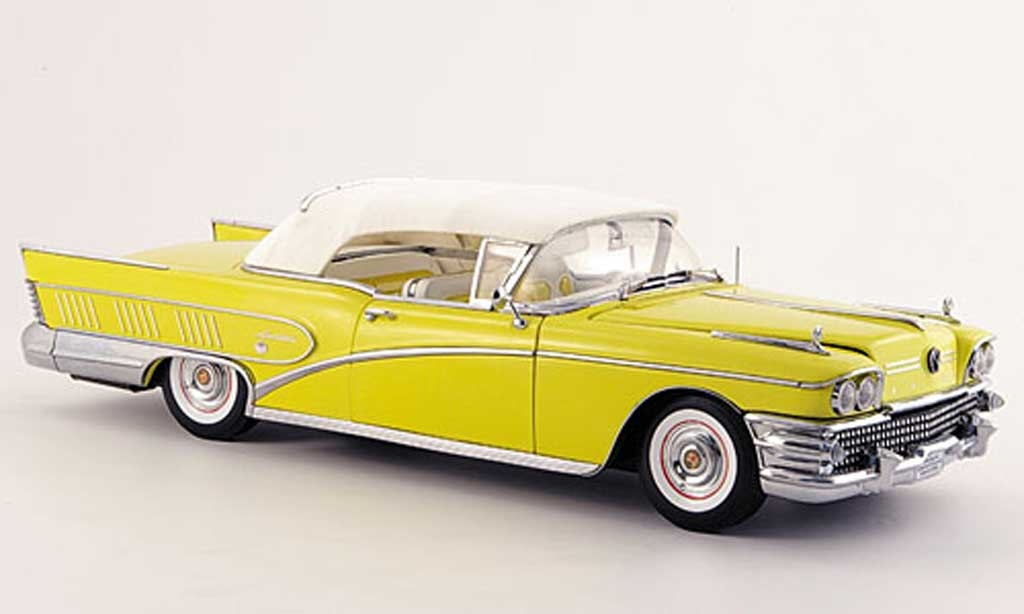 Buick Limited 1/18 Sun Star jaune 1958 miniature