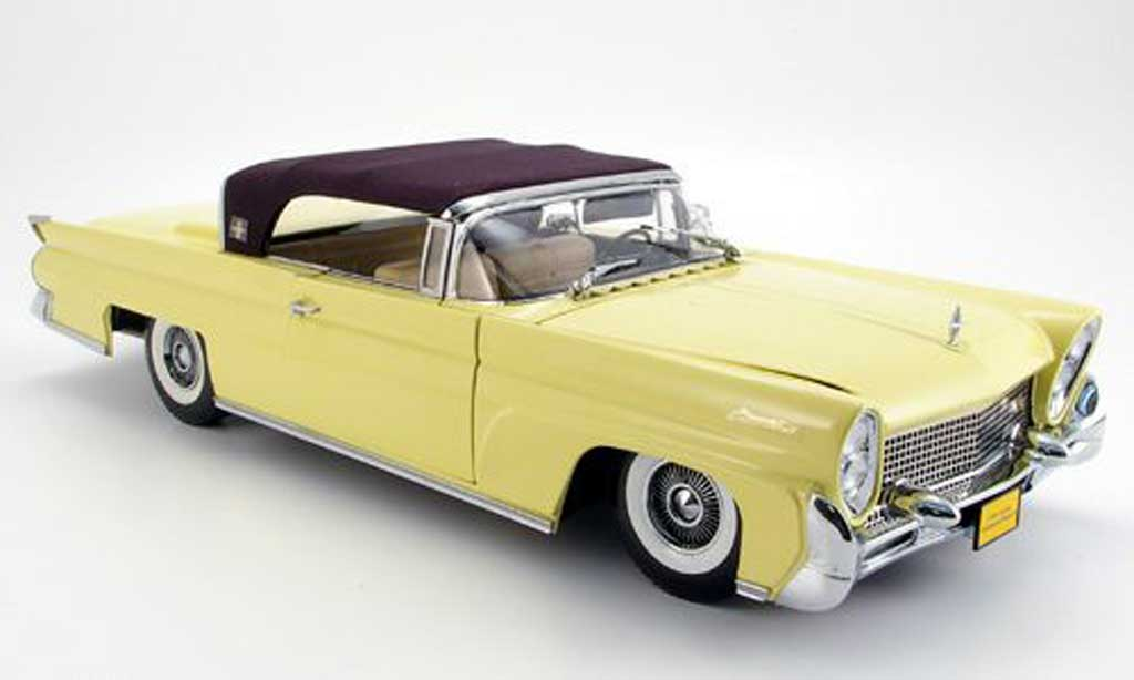 Lincoln Continental 1958 1/18 Sun Star mark iii jaune miniature