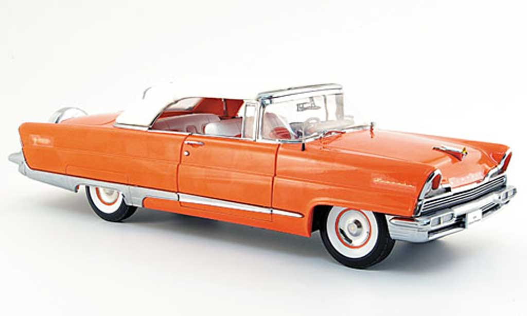Lincoln Premiere 1/18 Sun Star convertible rose 1956 miniature