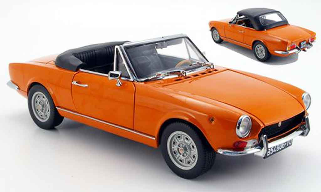 Fiat 124 BS 1/18 Sun Star orange geoffnetes verdeck 1969 miniature