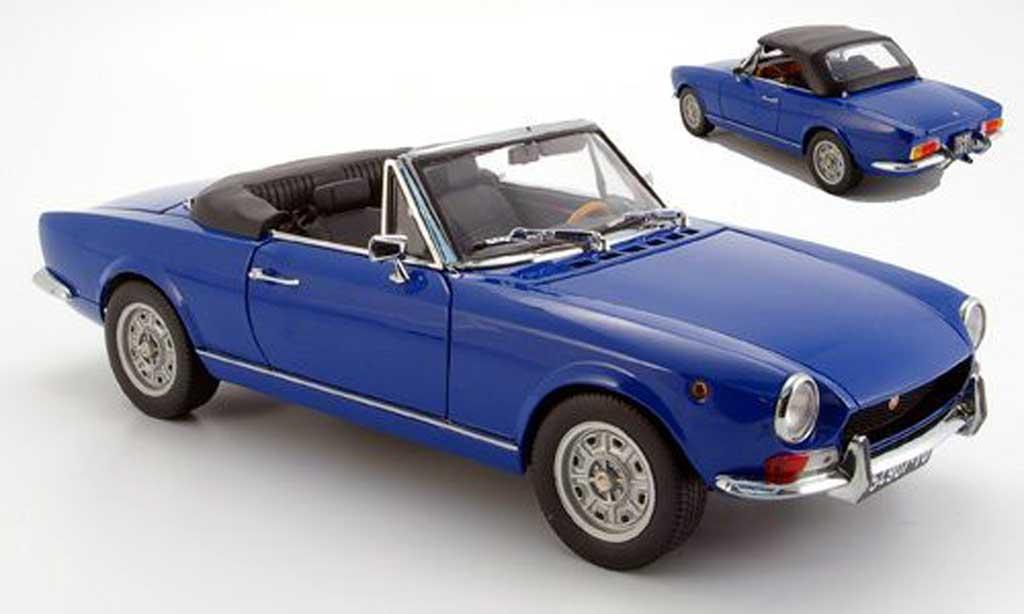 Fiat 124 BS blue geoffnetes verdeck 1969 Sun Star. Fiat 124 BS blue geoffnetes verdeck 1969 miniature 1/18