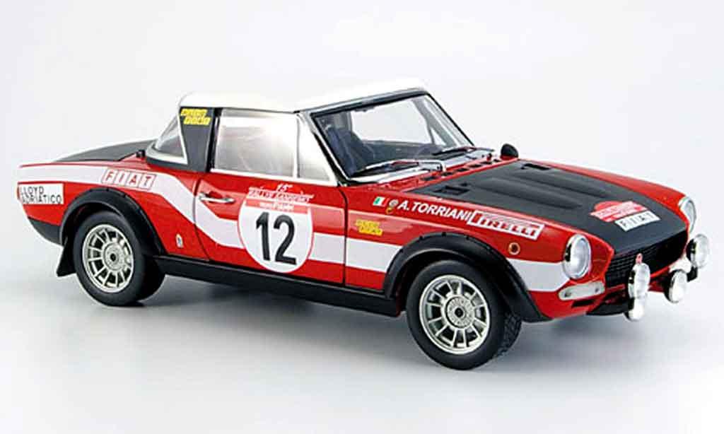 Fiat 124 Abarth 1/18 Sun Star no. 12 rallye san remo 1973 miniature