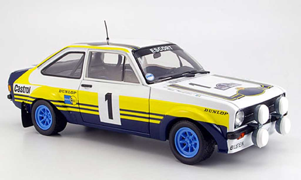 Ford Escort MK2 1/18 Sun Star no.1 rouge rallye grece 1979 miniature