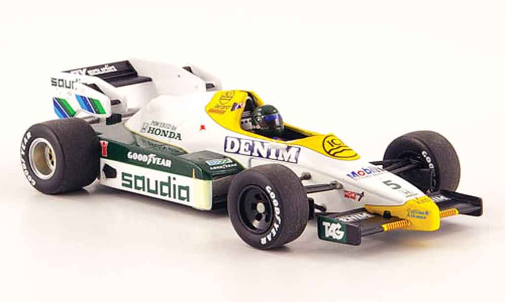 Honda F1 1/43 Minichamps Williams FW09 No.5 Saudia J. Laffite Saison 1984 miniature