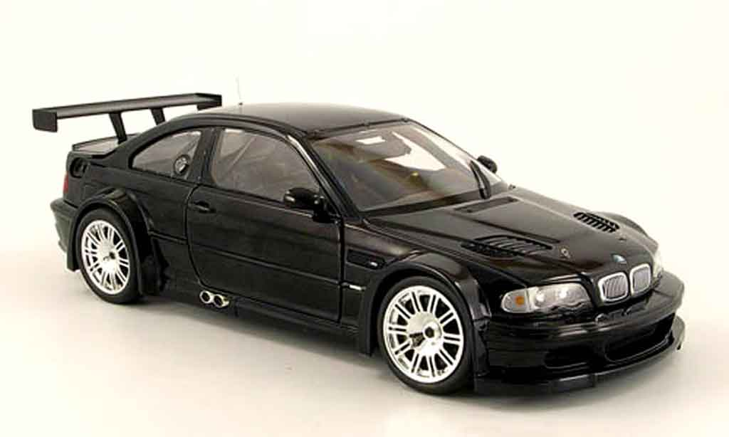 Bmw M3 E46 1/18 Minichamps GTR street black 2001 diecast model cars