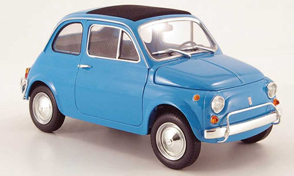 Fiat 500 L 1/18 Minichamps bleu 1968 miniature