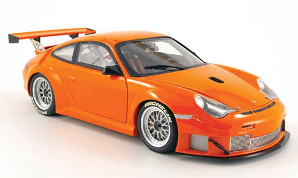 Porsche 996 GT3 RSR 1/18 Minichamps orange alms 2004 miniature