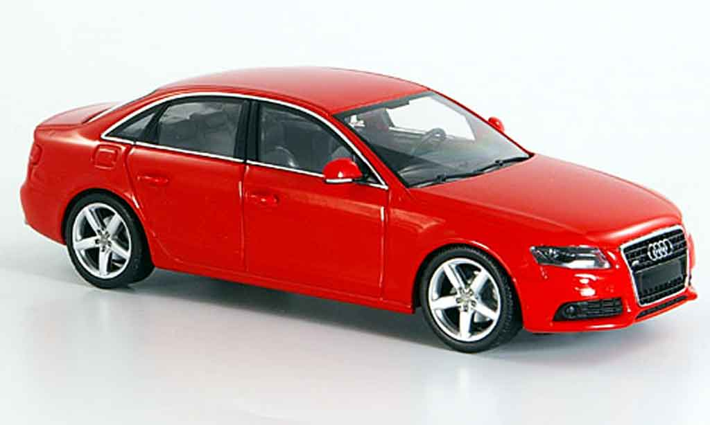 audi a4 red 2007 minichamps diecast model car 1 43 buy. Black Bedroom Furniture Sets. Home Design Ideas