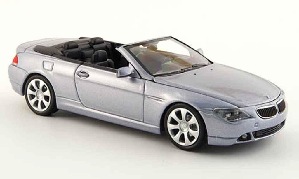 Bmw 635 E64 1/43 Minichamps d Cabriolet grise metalliseegrise 2006 miniature