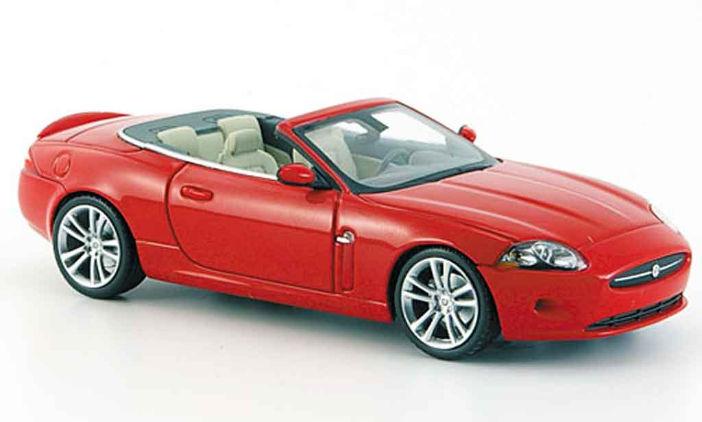 Jaguar XK Cabriolet 1/43 Minichamps rouge geoffnetes verdeck 2005 miniature