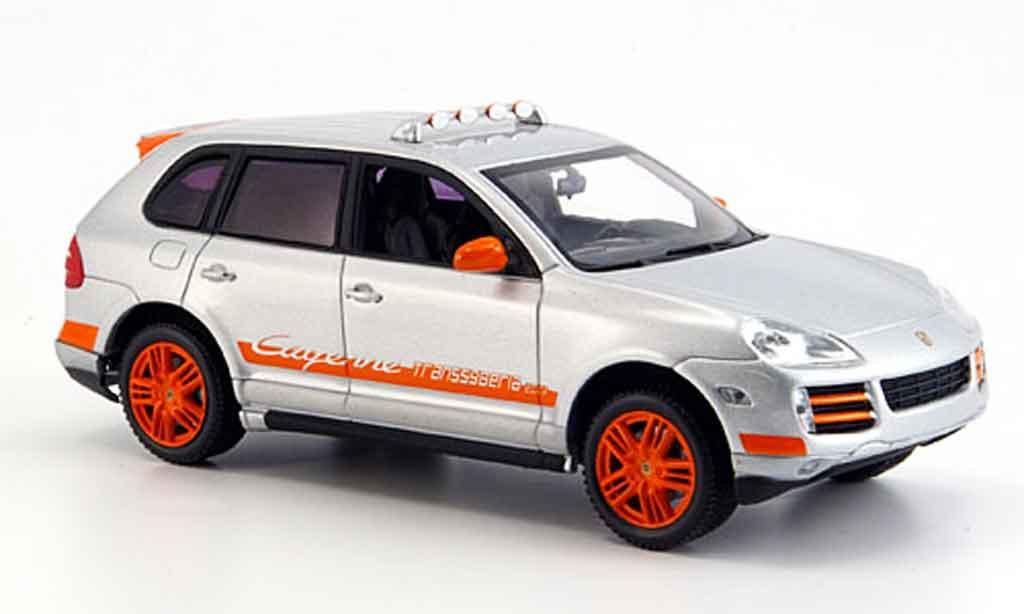 Porsche Cayenne 1/43 Minichamps Transsyberia grise metallisee orange 2007 miniature