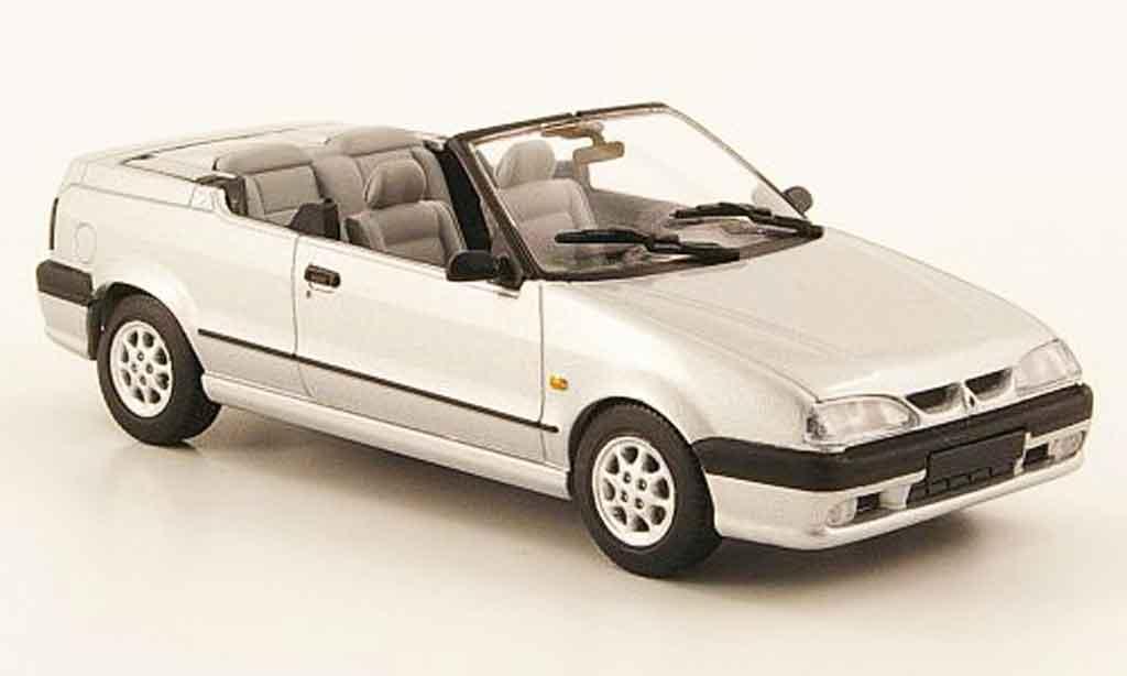 Renault 19 1/43 Minichamps cabriolet grise metallisee 1992 miniature