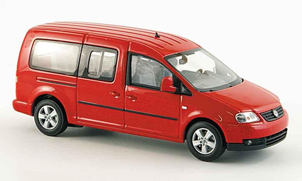 Volkswagen Caddy 1/43 Minichamps maxi shuttle rouge 2007 miniature