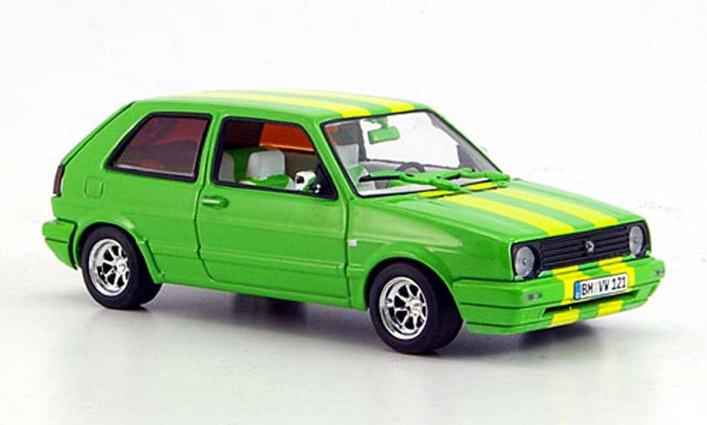 Volkswagen Golf 2 1/43 Minichamps Street Racer green diecast