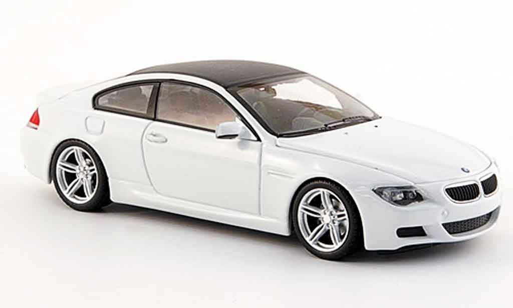 Bmw M6 E63 1/43 Minichamps Coupe white Linea Bianco 2007