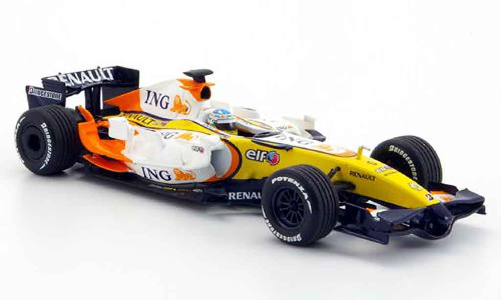 Renault F1 1/43 Minichamps r 27 f 1 team alonso test jerez 15. januar 2008 2008 miniature