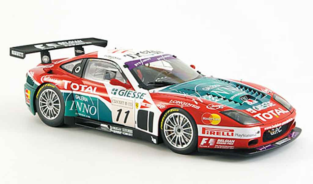 Ferrari 575 GTC 1/18 Kyosho no.11 team gpc spa 2004 miniature