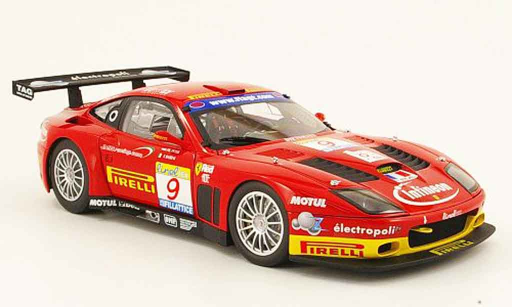 Ferrari 575 GTC 1/18 Kyosho no.9 team jmb estoril 2003 miniature