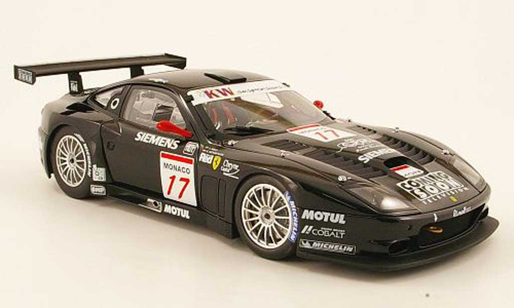 Ferrari 575 GTC 1/18 Kyosho no.17 team jmb donington 2004 miniature