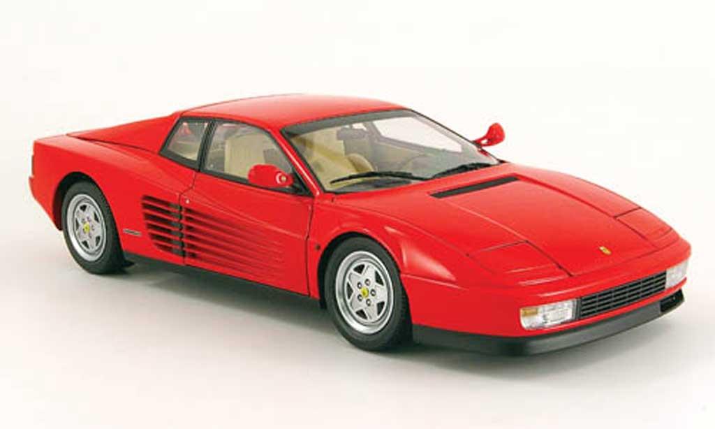 Ferrari Testarossa 1990 1/18 Kyosho rouge facelift miniature