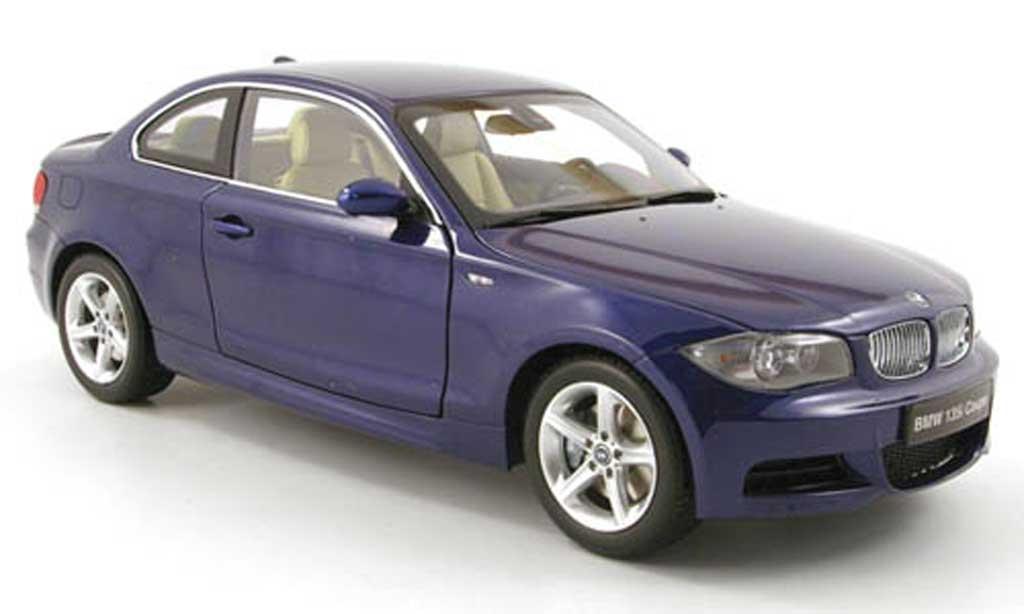 Bmw 135 E82 1/18 Kyosho i coupe (e82) bleu miniatura