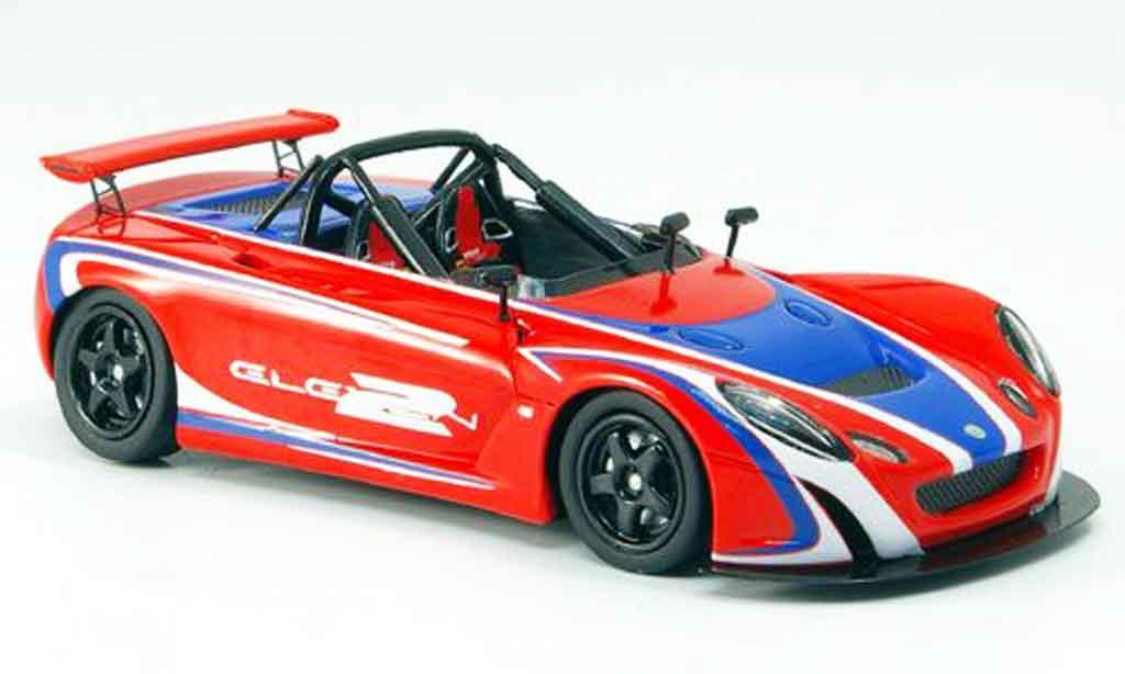 Lotus Eleven 1/43 Spark 2 rouge bleu 2007 miniature
