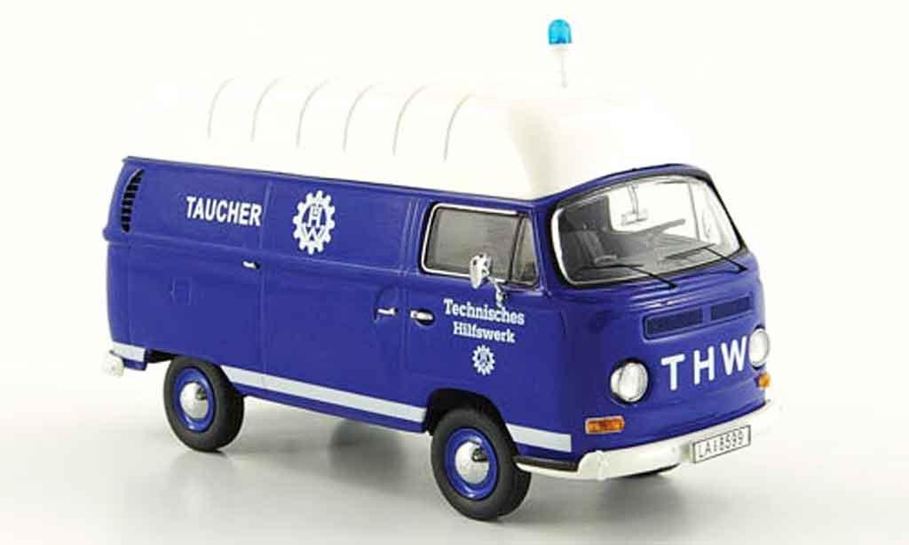 Volkswagen Combi 1/43 Schuco t2a kasten thw taucher hochdach
