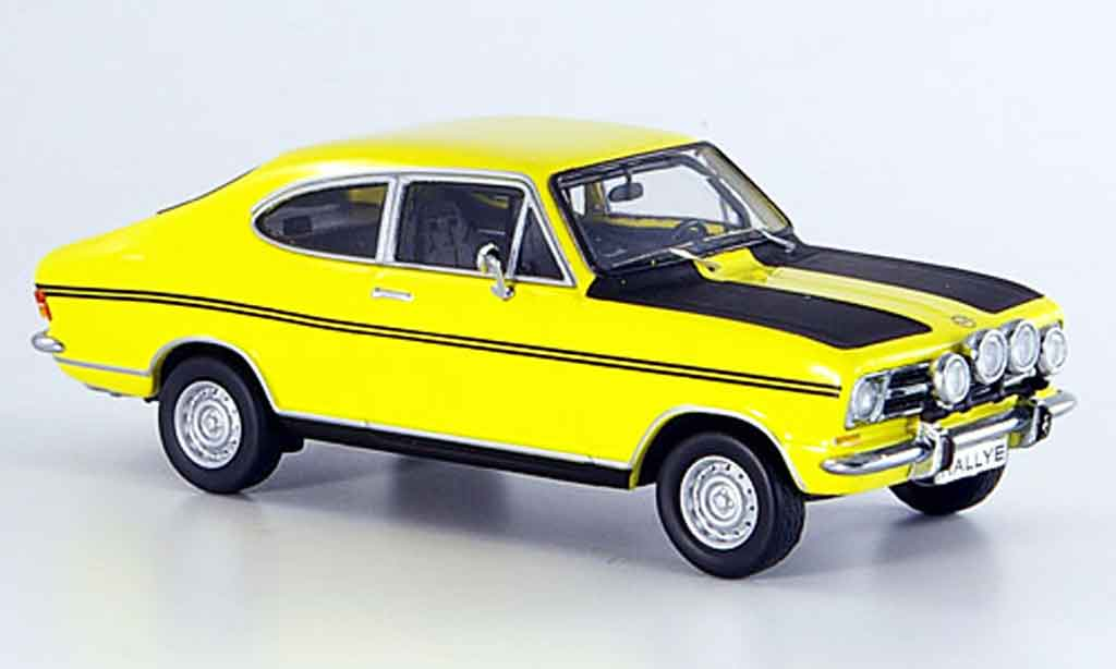 Opel Kadett B 1/43 Schuco coupe jaune noire miniature