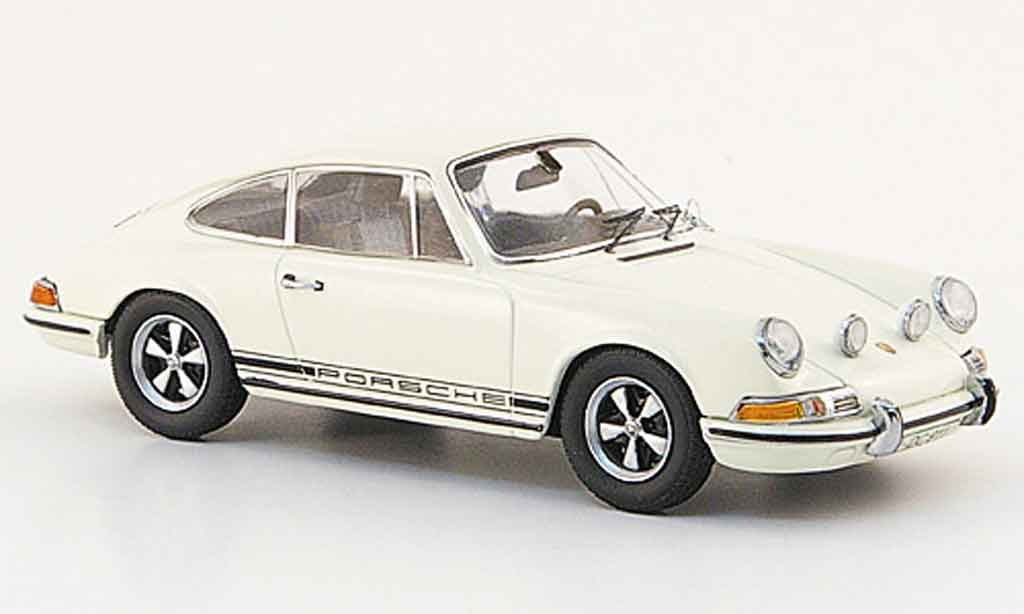 Porsche 911 1/43 Schuco S blanche avec noireem Schriftzug miniature