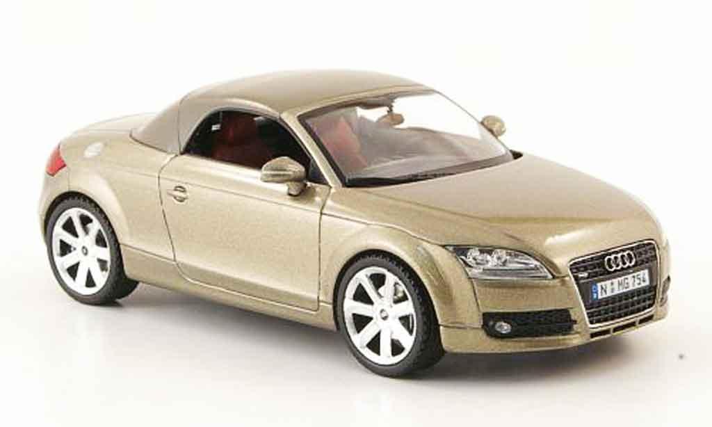 audi tt roadster miniature beige avec capote verdeck