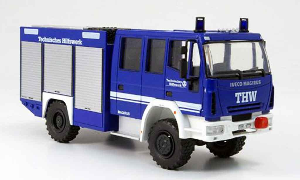 Magirus HLF 20 1/43 Schuco Iveco 16 THW Rustwagen Facelift miniature