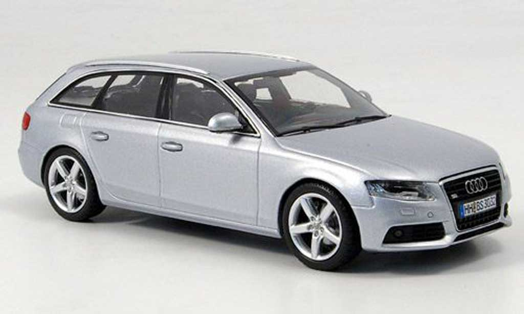 audi a4 avant gray 2008 minichamps diecast model car 1 43. Black Bedroom Furniture Sets. Home Design Ideas