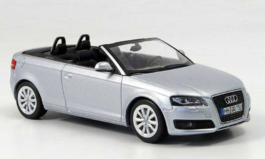 audi a3 cabriolet silber 2008 minichamps modellauto 1 43 kaufen verkauf modellauto online. Black Bedroom Furniture Sets. Home Design Ideas