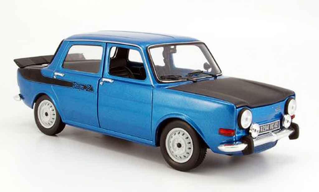 Simca 1000 1/18 Norev rallye 2 bleu 1976 diecast model cars