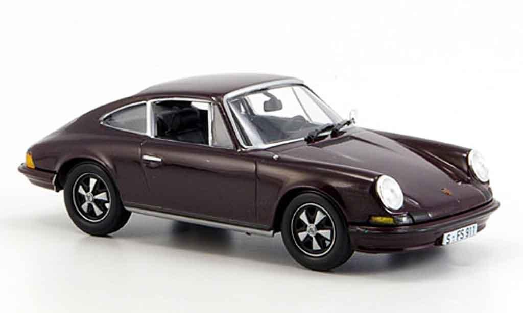 Porsche 911 2.4 1/43 Norev S marron 1973