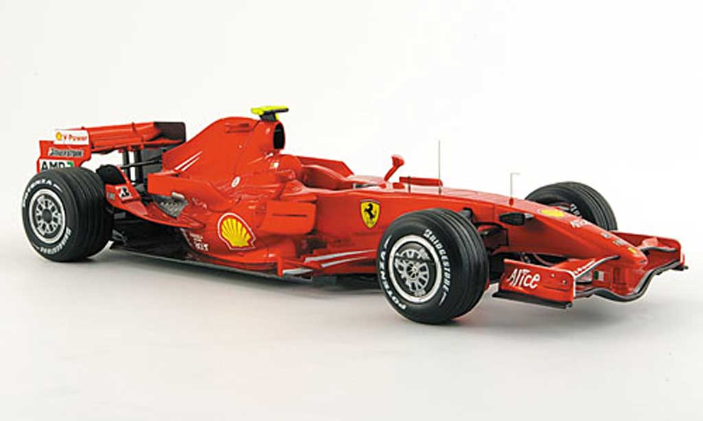 Ferrari F1 1/18 Hot Wheels Elite F2007 M. Schumacher Barcelona Test Version miniature