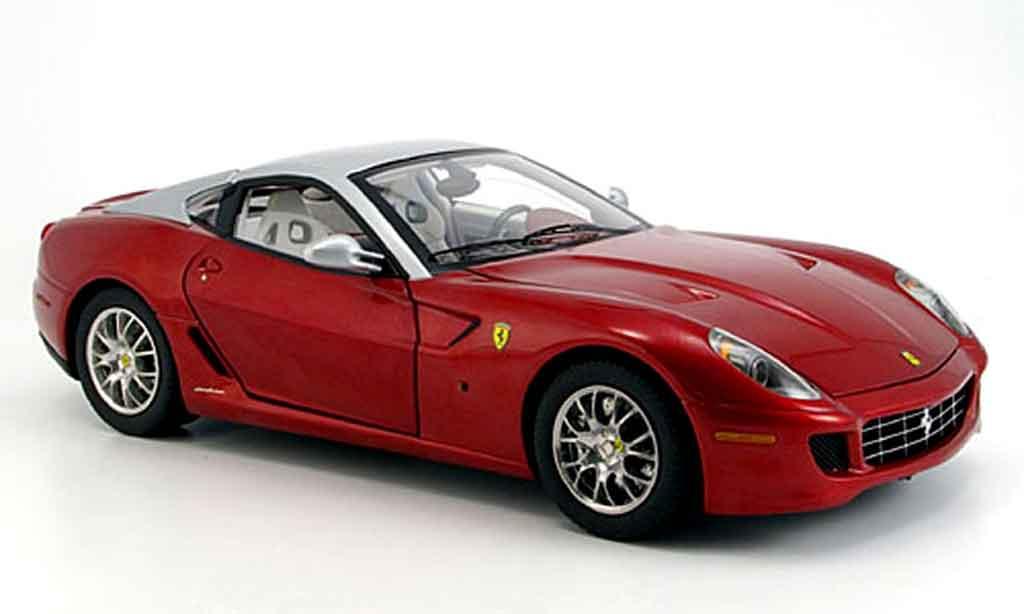 Ferrari 599 GTB 1/18 Hot Wheels Elite rouge et grise elite edition