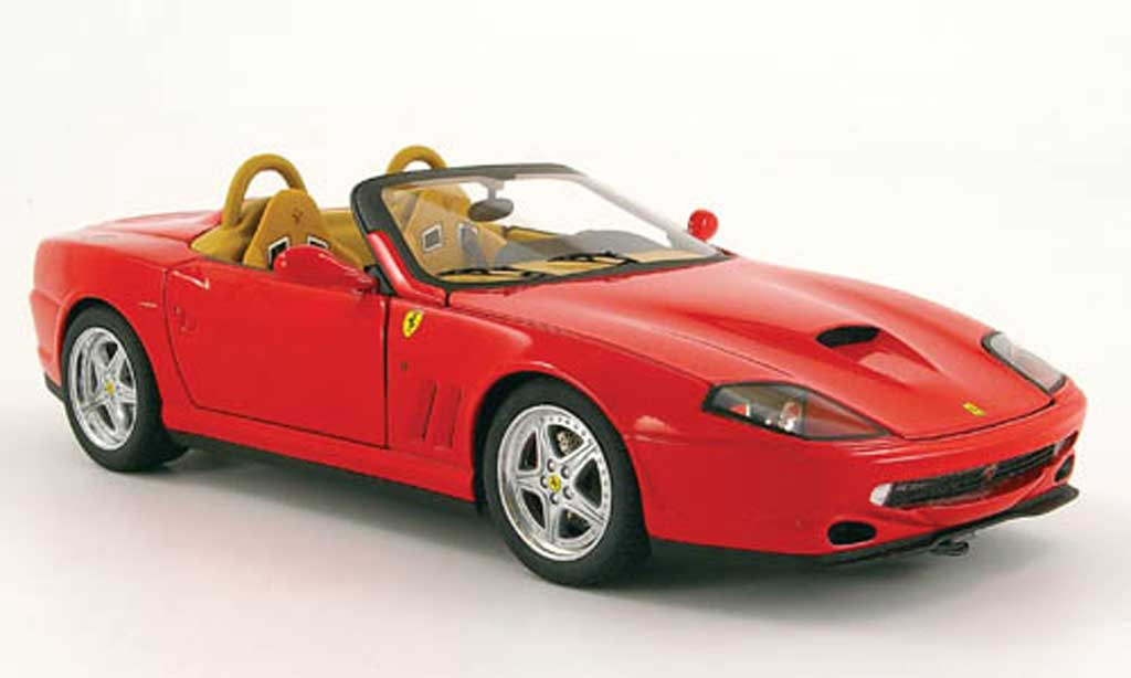 Ferrari 550 Barchetta 1/18 Hot Wheels Elite pininfarina rouge miniature