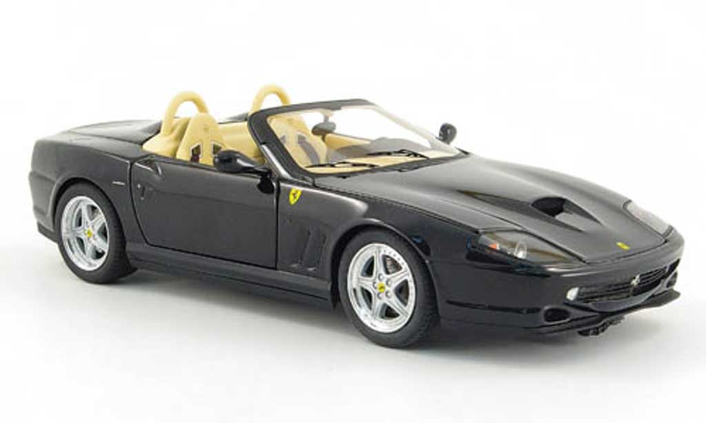 Ferrari 550 Barchetta 1/18 Hot Wheels Elite pininfarina noire miniature