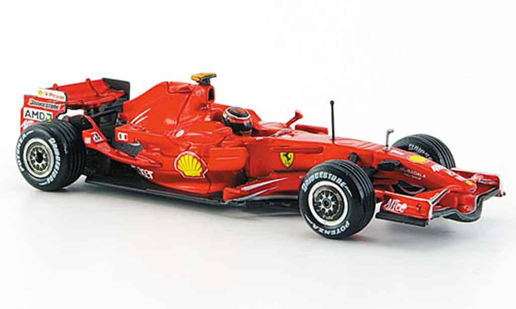 Ferrari F1 F2008 1/43 Hot Wheels k. raikkonen 2008 miniature