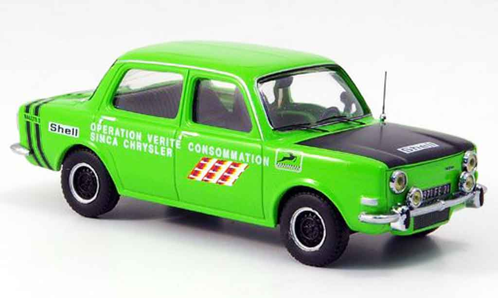 Simca 1000 1/43 IXO rallye ii green/black 1973