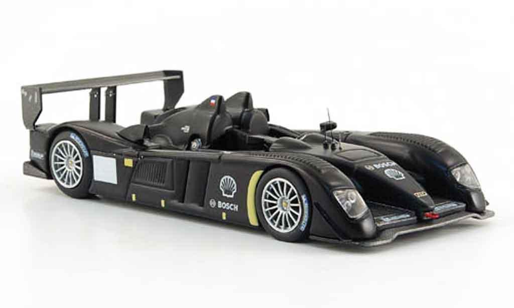 Audi R10 1/43 IXO TDI mattnoire Test Car 24h Le Mans 2007 miniature