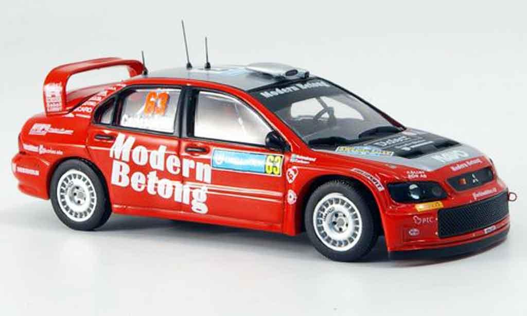 Mitsubishi Lancer Evolution IX 1/43 IXO WRC No.63 Dritter Rally Schweden 2006 miniature