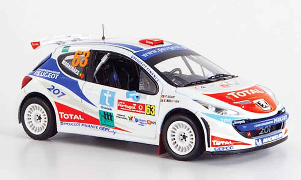 Miniature Peugeot 207 S2000 no.63 magalhaes rallye portugal 2007 IXO. Peugeot 207 S2000 no.63 magalhaes rallye portugal 2007 Rallye miniature 1/43