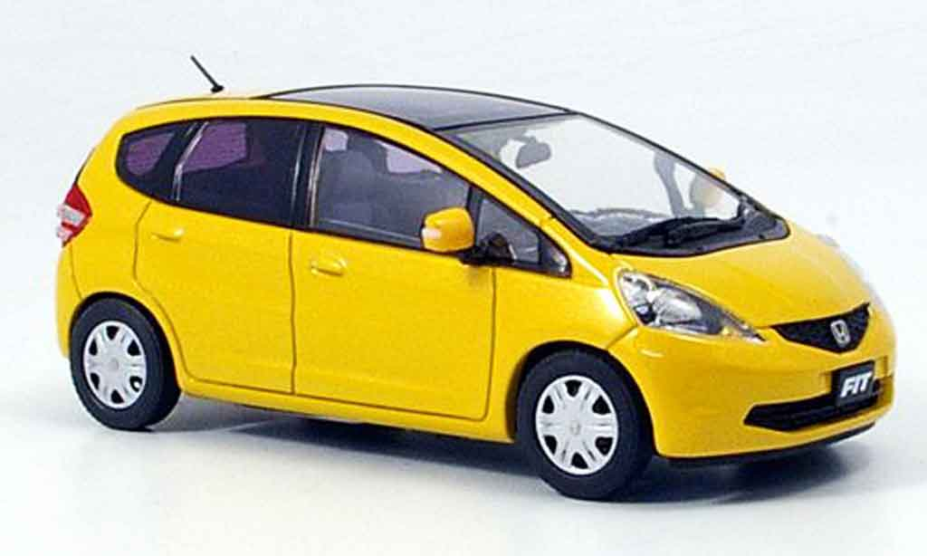 Honda Jazz 1/43 Ebbro Fit Skyroof jaune 2008 miniature
