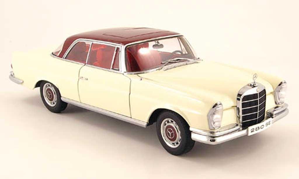 Mercedes 280 1968 1/18 Autoart se coupe blanche avec rougeem dach miniature