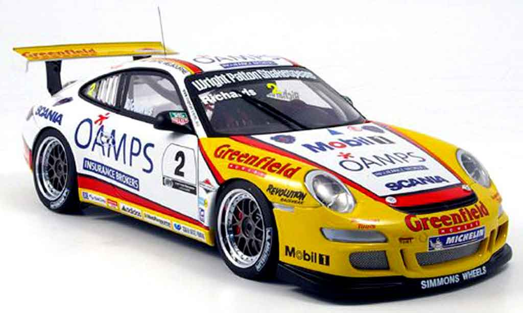 Porsche 997 GT3 Cup 2006 1/18 Autoart j. richards australian carrera diecast