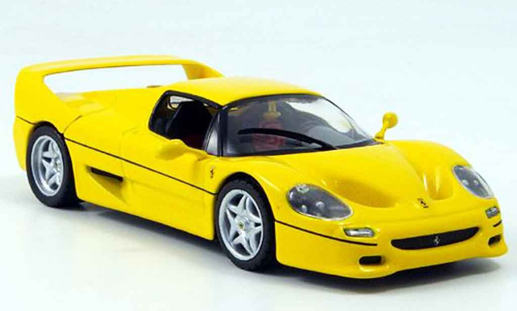 ferrari f50 miniature jaune coupe mcw 1 43 voiture. Black Bedroom Furniture Sets. Home Design Ideas