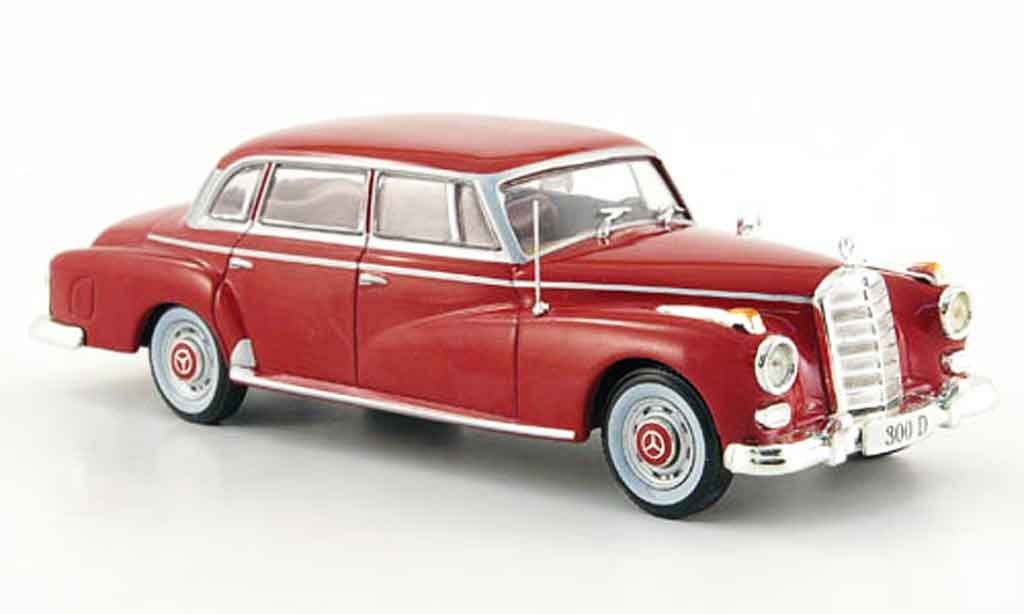 Mercedes 300 D 1/43 WhiteBox Limousine  rouge 1957 miniature