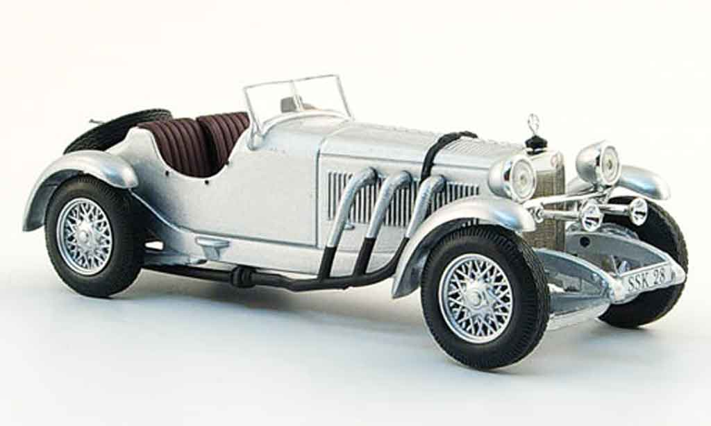 Mercedes SSK 1/43 WhiteBox grise metallisee 1928 miniature